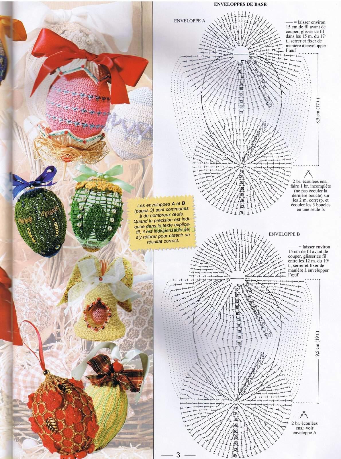 пасхальные яйца схема крючком
