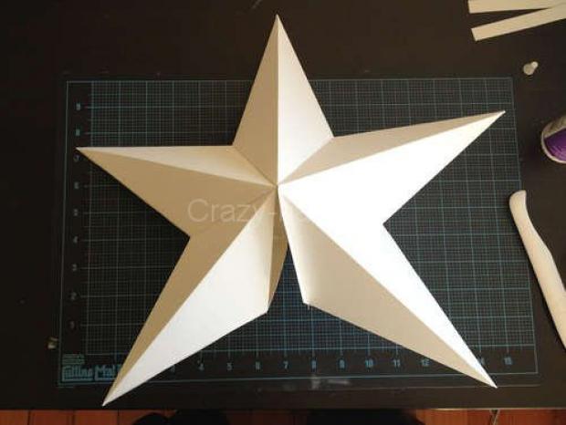 Звезда на ёлку из бумаги. 85098