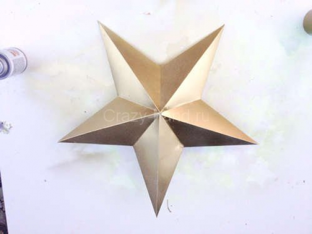 Звезда на ёлку из бумаги. 80635