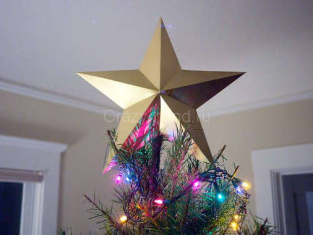Звезда на ёлку из бумаги. 77828