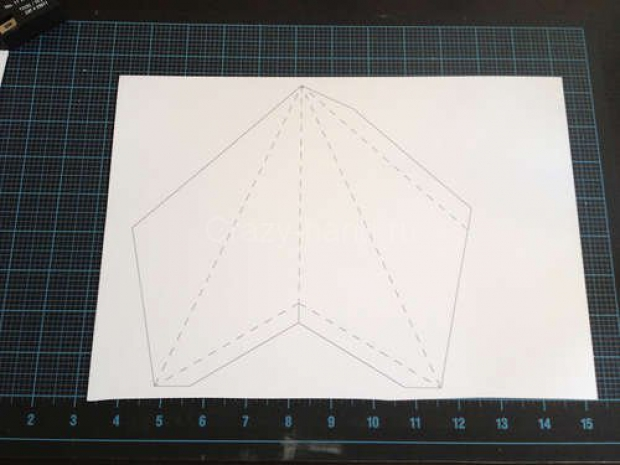 Звезда на ёлку из бумаги. 79217