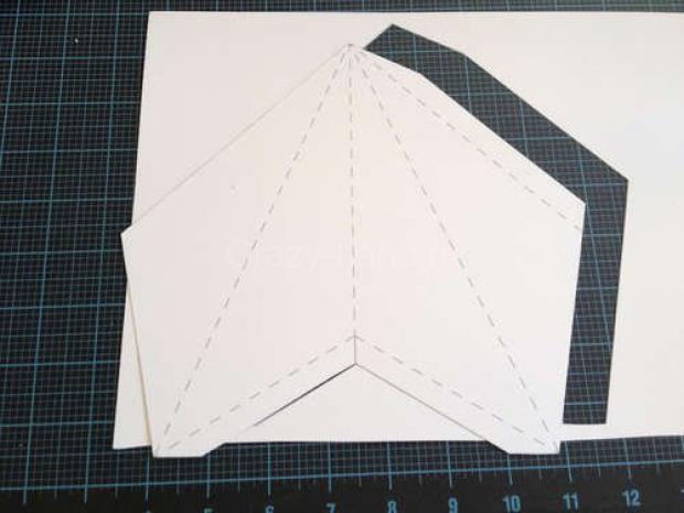 Звезда на ёлку из бумаги. 75165