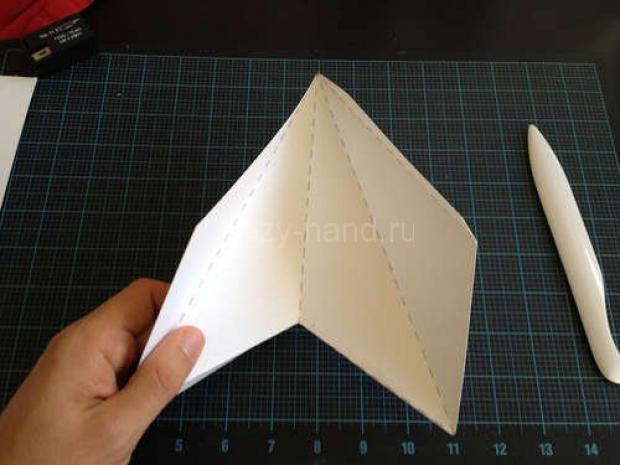 Звезда на ёлку из бумаги. 77632