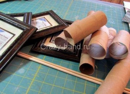 Рамка для фотографий в технике квиллинг. 67267