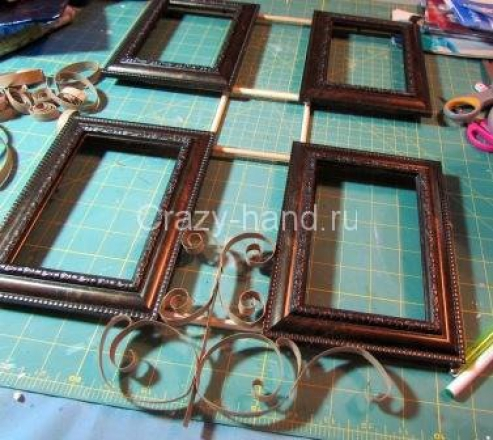 Рамка для фотографий в технике квиллинг. 75259