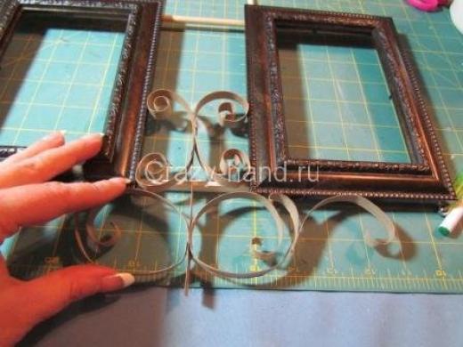 Рамка для фотографий в технике квиллинг. 48336