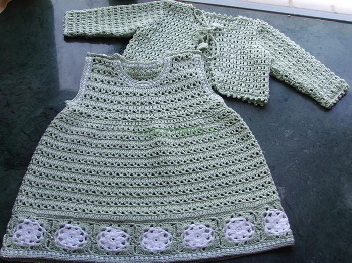 детские вязание платья крючком схемы азбука вязания