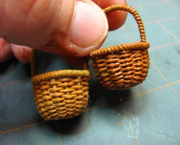 Как сделать маленькую корзиночку 490