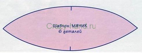 Мячик своими руками из ткани выкройки