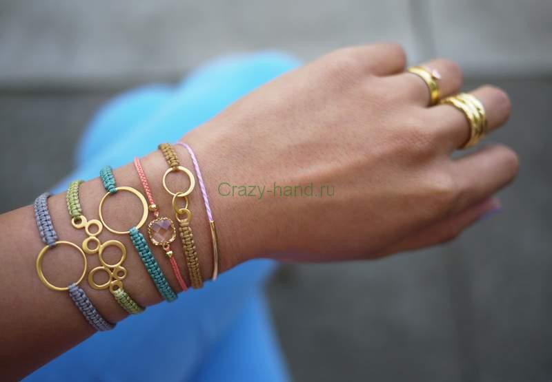 Плетение браслетов своими руками фото