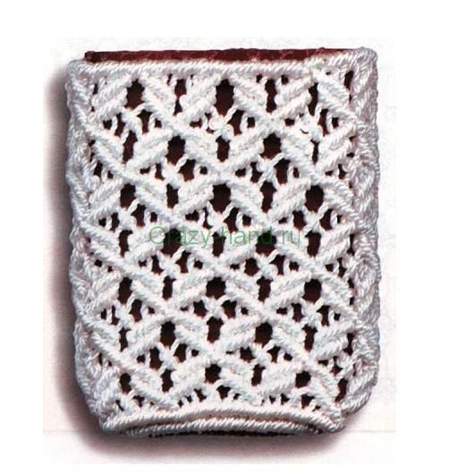 схемы плетения сумки макраме.