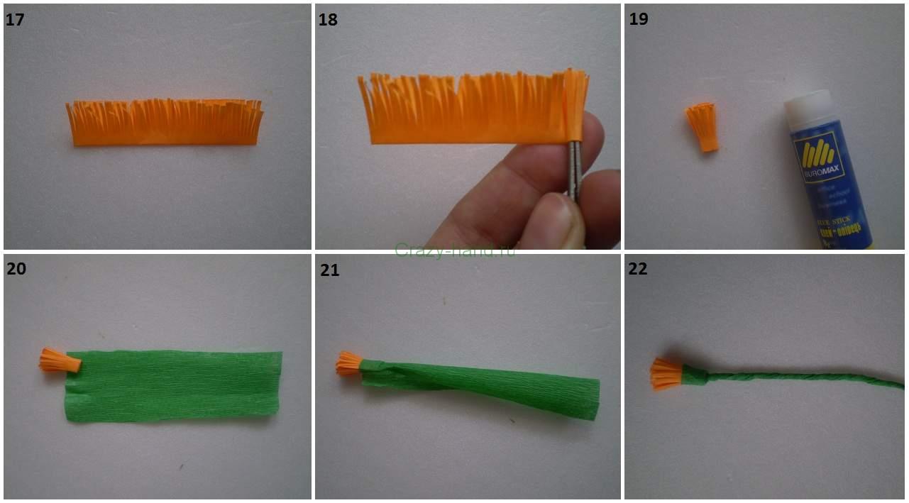 Как сделать одуванчик из бумаги видео