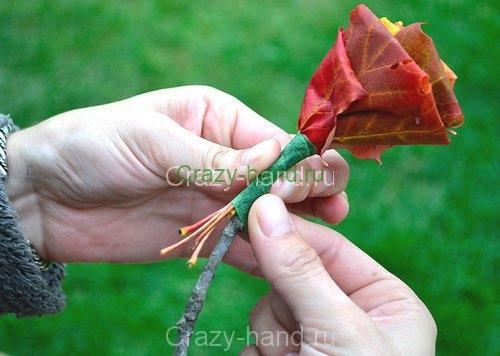 diy_leaf_rose_8