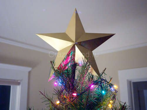 Звезда на ёлку из бумаги. 51763