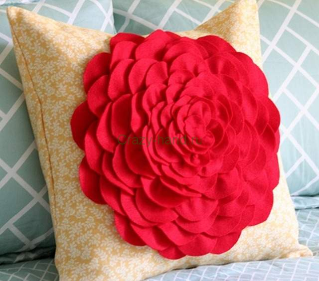 подушка цветок своими руками<br />