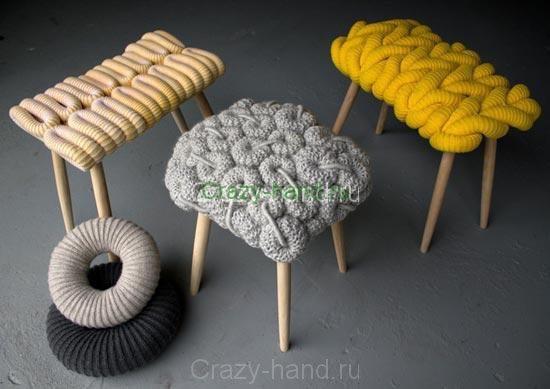 Вязанная мебель1