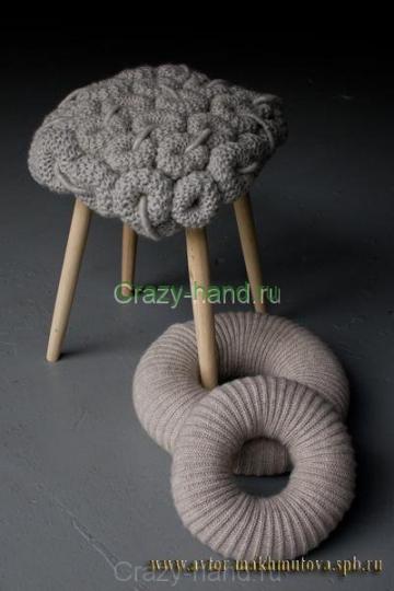 Вязанная мебель2