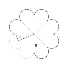 Шаблоны цветов из бумаги  схемы шаблоны
